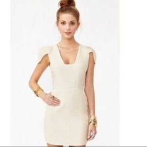 Finders Keepers Linen Blend Cap Sleeve Dress